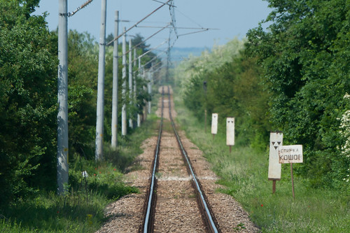 Train tracks in Bulgaria