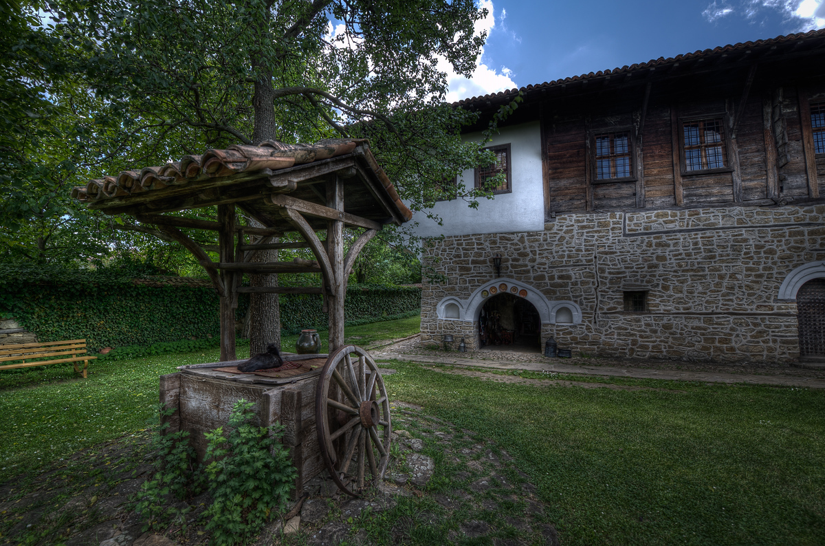A wooden well in Veliko Tarnovo, Bulgaria