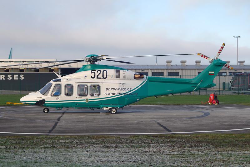 """520 AgustaWestland AW139 """"Bulgarian Border Police"""" c/n 31327 Liege/EBLG/LGG 09-11-20"""