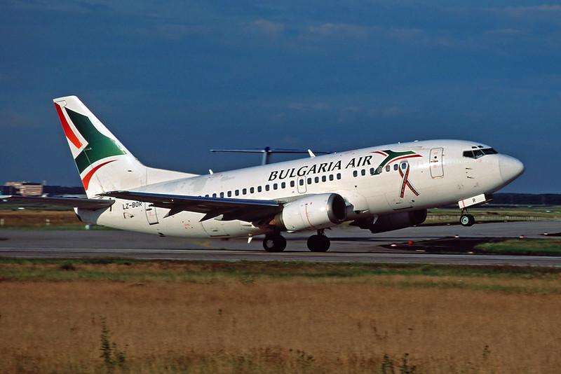 "LZ-BOH Boeing 737-330 ""Bulgaria Air"" c/n 23530 Frankfurt/EDDF/FRA 10-07-07 (35mm slide)"