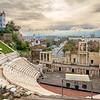 Plovdiv Roman theatre skyline