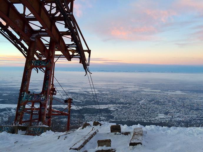 snowy mountain bulgaria
