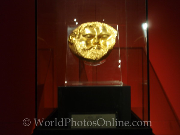 Varna  - Archaeological Museum - Ancient Gold Mask