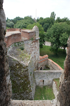 Vidin - Baba Vida Fortress - Battlements view from Keep