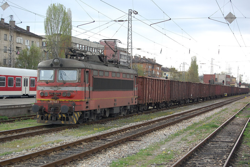 44140 on a frieght at Sofia.