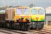 Iarnród Éireann class 201 no. 226 'Abhainn na Siuire/River Suir' alongside reliveried 219 'Abhainn na Tulchann/River Tolka' in Intercity livery at Limerick Junction on 30th July 2006.