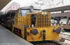 Pictured in Lisbon, CP 1172, a 1966/7 Rolls-Royce powered Sentinel diesel hydraulic shunts the stock of a Lisboa - Porto motorail service.