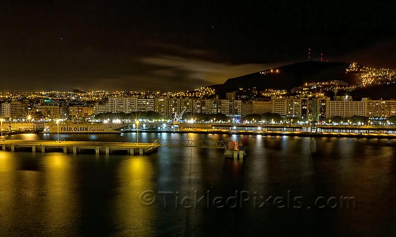 Santa Cruz Harbour at Night