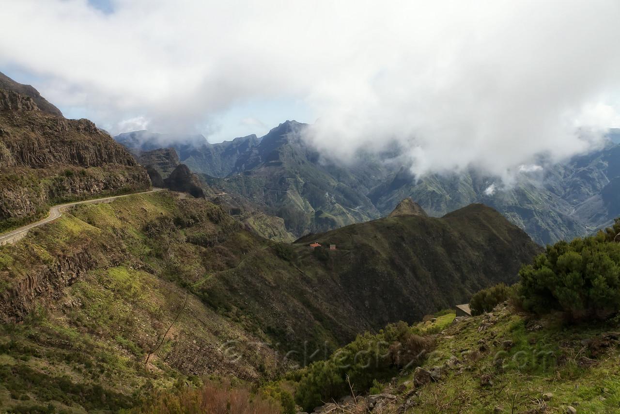 Road up Encumeada Pass, Madeira