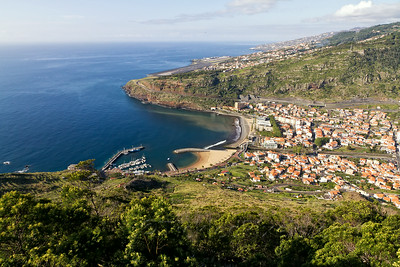 The town of Machico with the International Airport in Santa Cruz