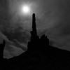 Totem Poles In Moonlight