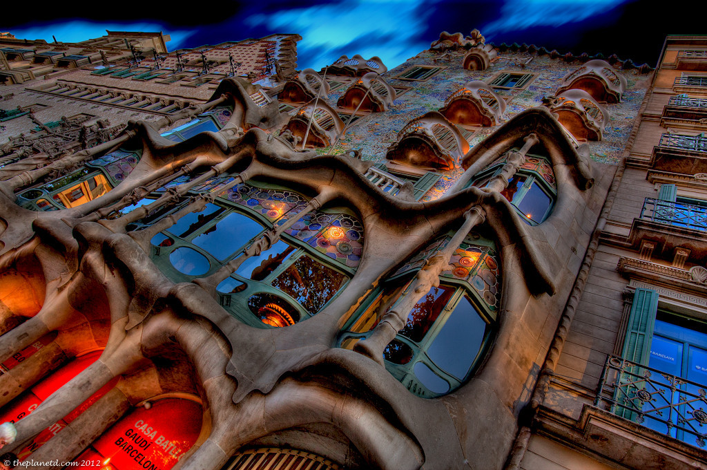 Gaudi architecture in Barcelona spain