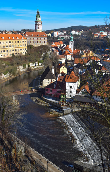 Vltava River and the castle