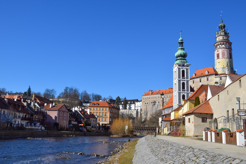 View of the castle from the river