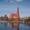EU 261 - Belarus, Postawy town, Catholic church