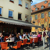 Bamberg Germany, View on Cafe