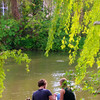 Bamberg Germany, Couple on Shores of Regnitz River