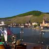 Viking River Cruise, Paris to Prague, Approach to Bernkastel from Top Deck