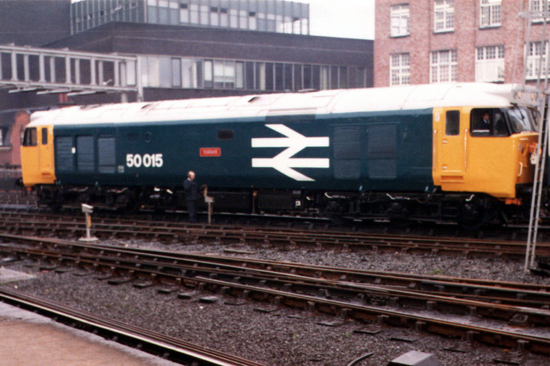 50015 at Newcastle Central Station.