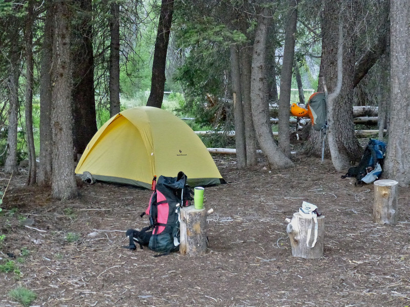Campsite at the head of Redfish Lake
