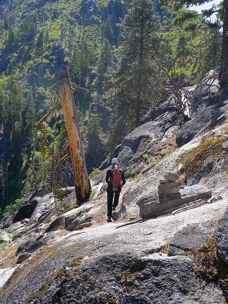 Snow Creek Wall descent trail