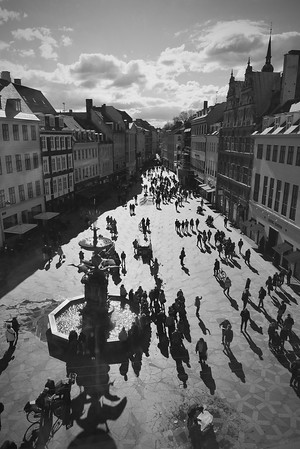 Strøget, as seen from Hay House (one of the longest pedestrian shopping streets in Europe)