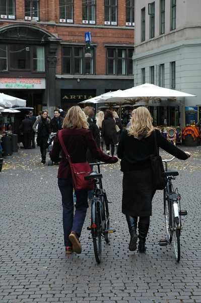 Ladies with Bikes - Copenhagen, Denmark