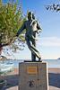 Statue of Salvado Dali in Cadaqués, Catalonia, Spain