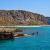 Shipwreck off the coast of the island