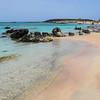 Pink sand on Elafonissi