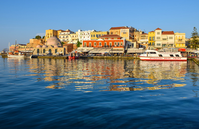 First look at Chania's beautiful harbor