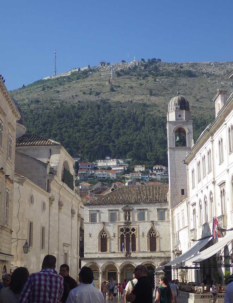 The centerpoint of any visit to Dubrovnik is a visit to the old walled city.  Dubrovnik was an important medieval trading city, allowed by the Pope to trade with  Arab countries, a trading relationship that continued with  the Ottoman Empire.  It remained an independent state when Rome and Venice controlled the rest of what is now Croatia.  Dubrovnik has a rich architectural heritage, including a well-preserved city wall and the structures within it.
