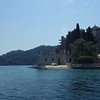 This is a little lake in the interior of Mljet.  On an island in the lake is an old monastery (Romanesque).