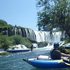 ... then picked up as we kayaked over several small falls.  We portaged this larger fall.