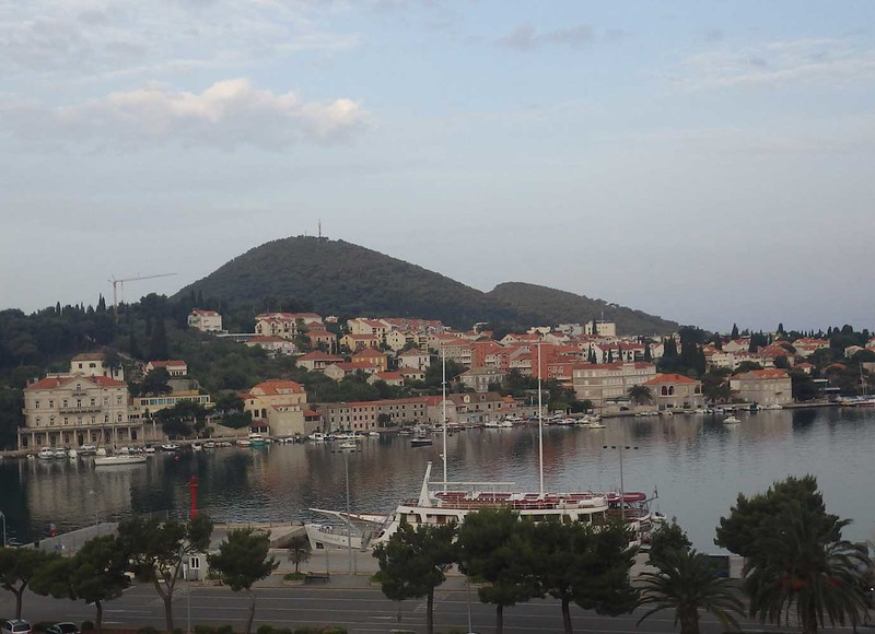 Outside the old city is the main part of Dubrovnik. This is a view of the port, in the early morning before it gets busy.