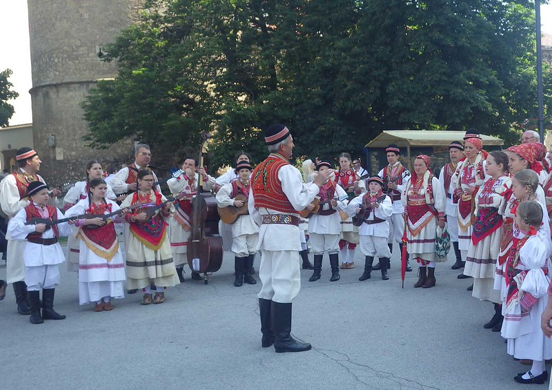 This group of local singers and musicians greeted us in traditional Croatian garb.
