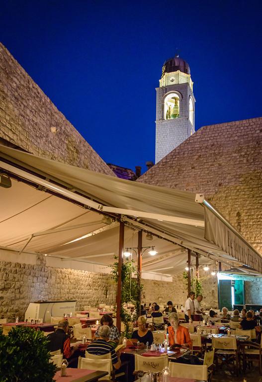 Dinner in Old Town Dubrovnik