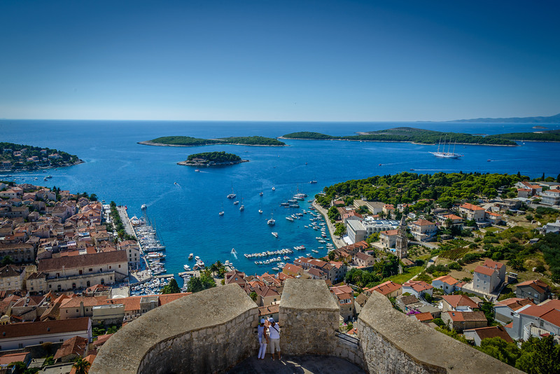 Hvar Harbor from Fortress