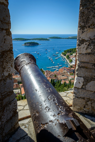 Cannon on Hvar Fortress