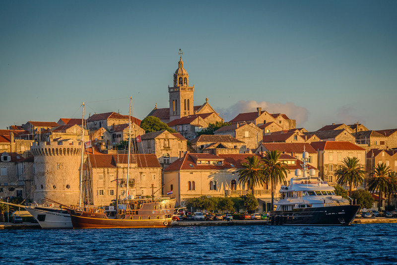 Korcula Croatia from Harbor