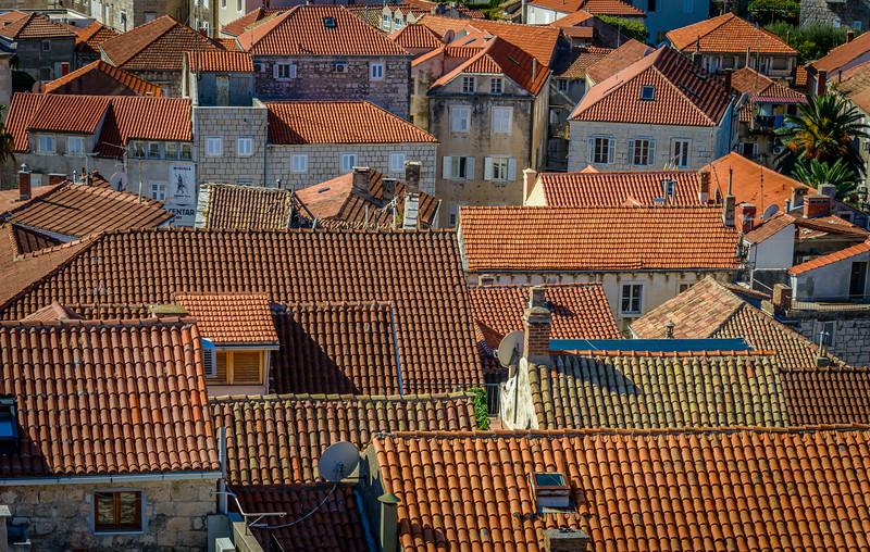 Red Tile Roofs - Korcula, Croatia