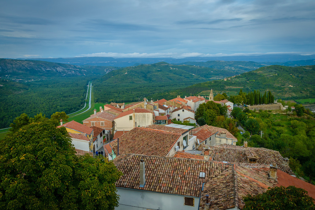 View of Lower Town From Rampart - Motovun