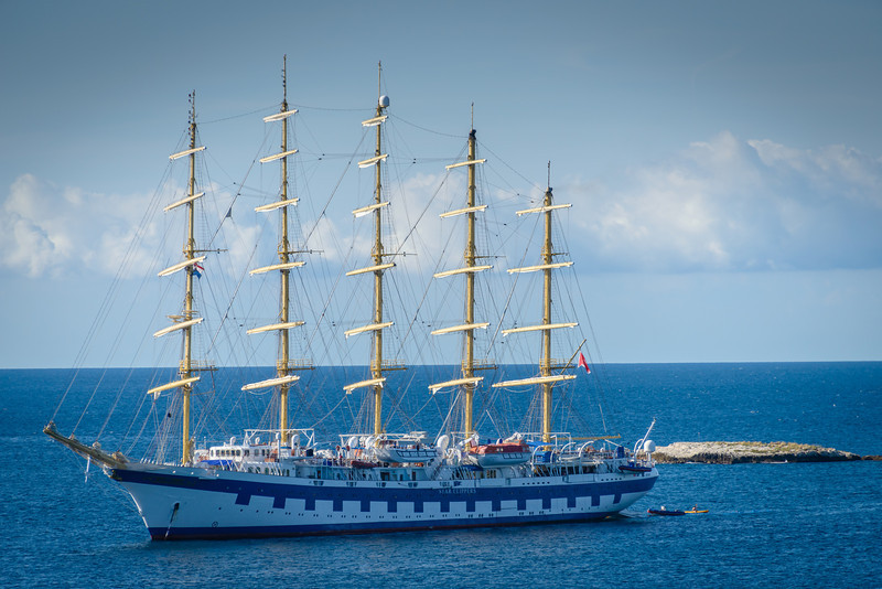 Star Clipper Ship Near Rovinj