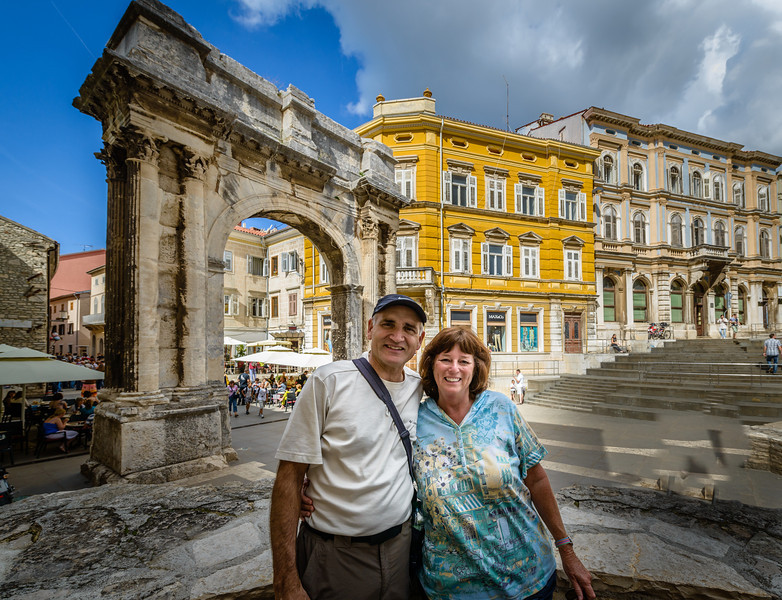 Richard and Valeria Near Arch of Sergius