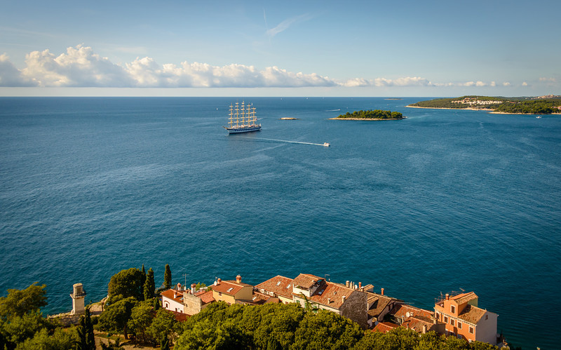 View Toward Venice Italy from Rovinj