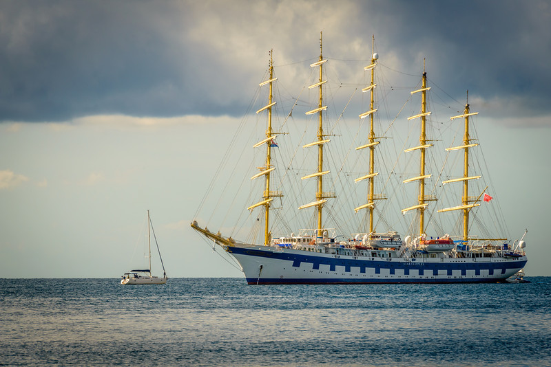 Tall Clipper Ship in Rovinj Harbor