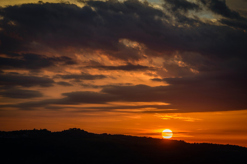 Sunset From West Rampart - Motovun