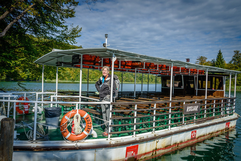 Electric Boat on Lake Koizak - Plitvice