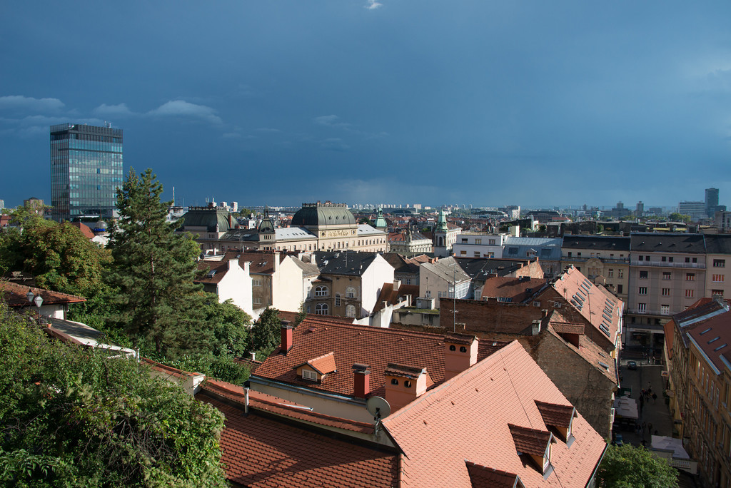 View of Zagreb from Gradec Area