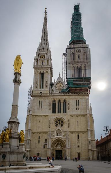 Zagreb Cathedral - circa 1880